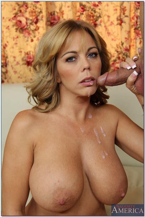 Amber Lynn Bach Receives A Cumshot On Her Gorgeous Tits