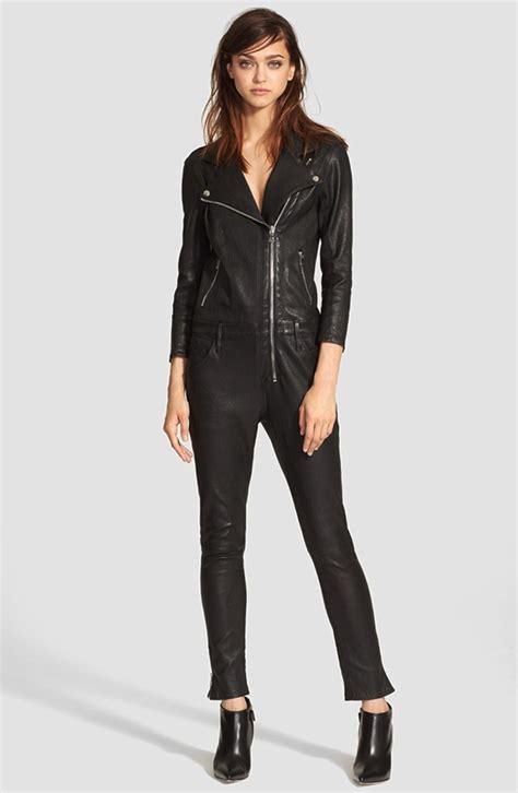 leather jumpsuits jenner makses black leather jumpsuits fashionable