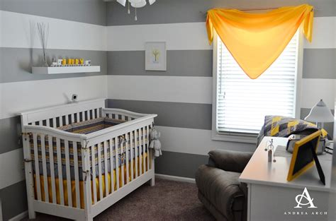 andrea arch yellow grey gender neutral nursery