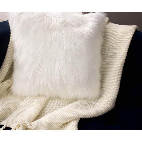 faux fur decorative pillows jean faux fur 2 decorative pillow set in