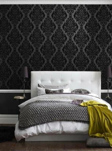 chambre a coucher noir les papiers peints design en 80 photos magnifiques