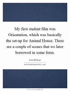 Film Set Quotes... New Student Orientation Quotes
