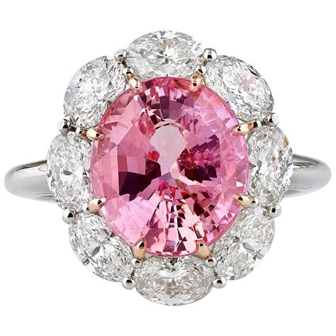 5 61 carats untreated padparadscha sapphire gold ring at 1stdibs