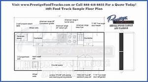 Custom Food Truck Floor Plan Samples | Prestige Custom ...