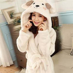 Bath robe hooded robes for women dressing gown warm for Robe de chambre femme avec capuche
