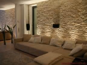 steinwand optik wohnzimmer 2 riemchen mediterraner hausbau