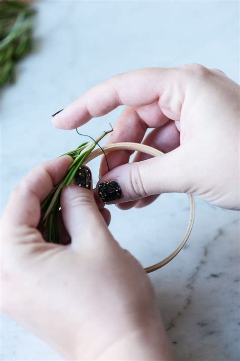 Diy Mini Rosemary Wreath Garland  The Sweetest Occasion