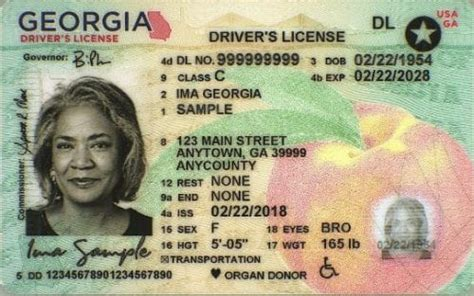 georgia issuing  secure drivers licenses id cards