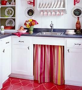 Waschmaschine In Der Küche : erneuerung der k che mit farbenfrohen stoffen ~ Markanthonyermac.com Haus und Dekorationen