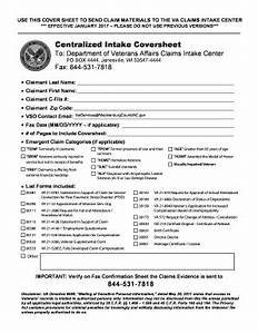 fillable online department of veterans affairs claims intake fax coversheet fax coversheet fax With janesville fax cover sheet