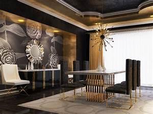 modrest kingsley modern marble rosegold dining table