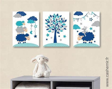 cadre décoration chambre bébé affiche pour chambre de bébé et d 39 enfant garçon mouton