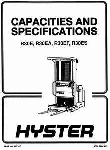 Hyster Electric Reach Truck Type D118  R30e  R30ea  R30ef