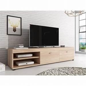 Meuble Tv C Discount : meuble tv chene clair achat vente meuble tv chene clair pas cher les soldes sur cdiscount ~ Teatrodelosmanantiales.com Idées de Décoration
