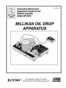 Millikan Oil Drop Apparatus  Instruction Manual And