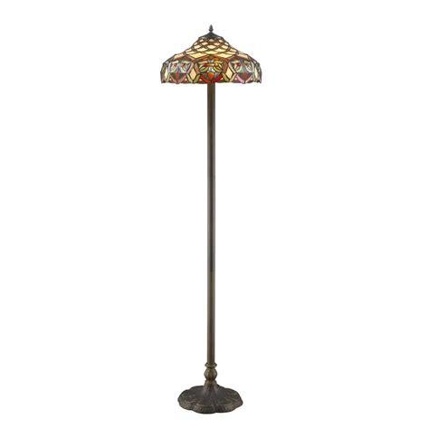 warehouse  tiffany ariel   bronze floor lamp