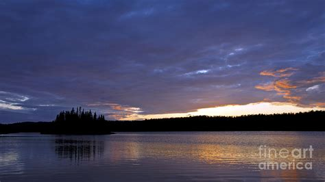 Tobin Harbor At Sunset Isle Royale National Park