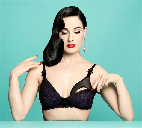 Dita Von Teese Proves Maternity Bras Can Be Stone Cold Sexy