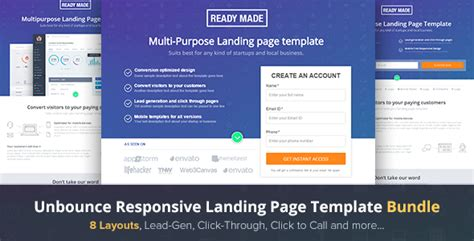 best landing page templates 20 best unbounce landing page templates 2016 for marketing