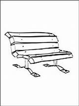 Coloring Bench Park Pages Furniture Printable sketch template