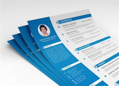 psd resume cv cover letter template  ui  ux