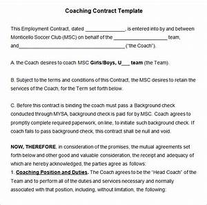coaching contract template 4 free word pdf documents With coaching contracts templates