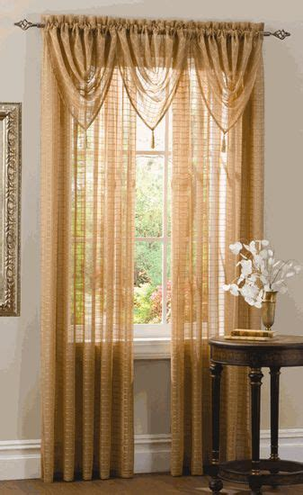 semi sheers feature a windowpane design with
