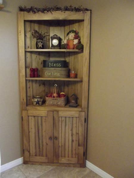 Pine Corner Cupboards by Make A Corner Useful Rustic Country Wood Pine Corner