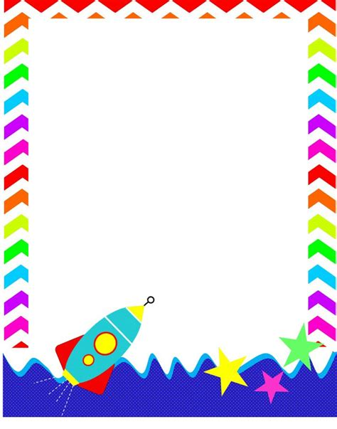 outer space border clip art  space