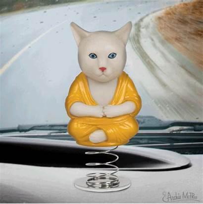 Cat Buddha Dashboard Archie Mcphee Buddhist Monk