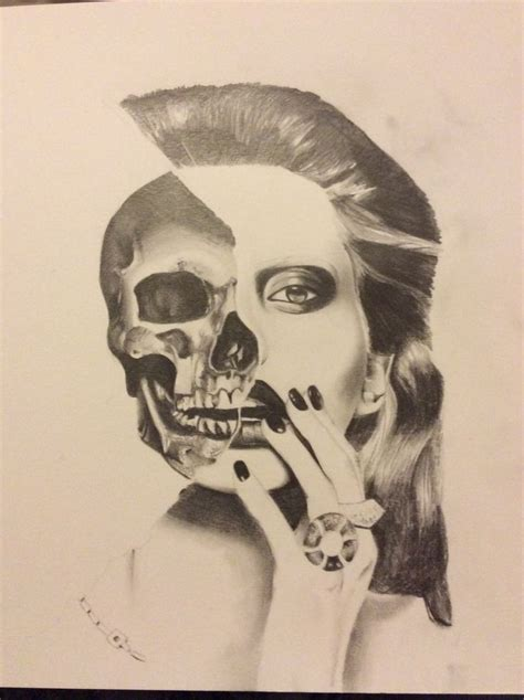 skull  face drawing art    face
