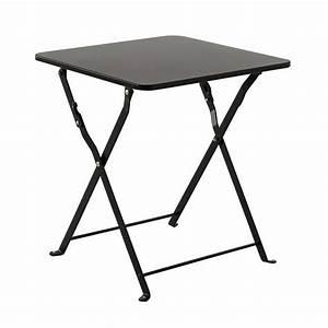 Table D39appoint Pliante Nindiri Noir Meuble D39appoint