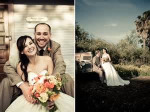 wedding venues in orange county ca and groom pose outside during sunset after saying i