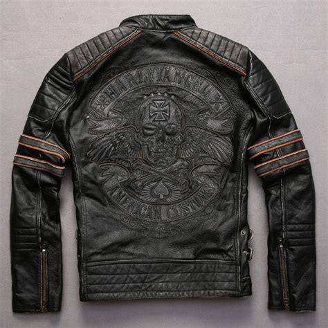 motorcycle jacket store skull leather jacket promotion shop for promotional skull