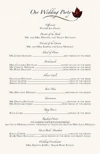 wedding ceremony programs wording examples programs With wedding reception program wording ideas