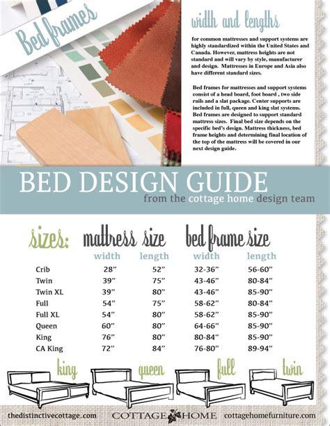 bed frame sizes design guide  distinctive cottage