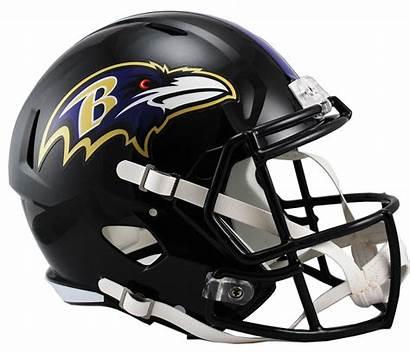 Ravens Helmet Baltimore Football Nfl Riddell Speed