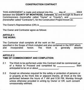 construction contract 7 free pdf download sample With general contractors contract template
