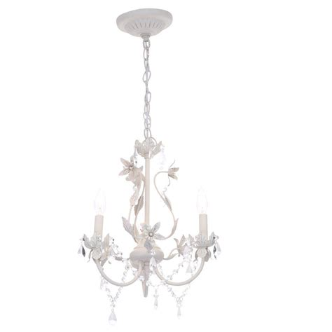 hton bay kristin 3 light antique white hanging mini