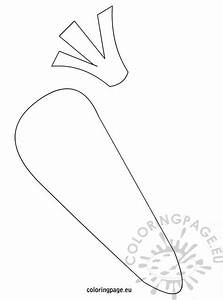 carrot template printables coloring page