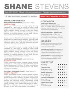 unique resume format exles the shane resume creative resume template for word