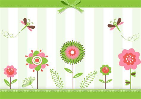 The pdf versions can be downloaded and opened in a program that can display the pdf file format. Green Floral Greeting Card Vector 58817 Vector Art at Vecteezy