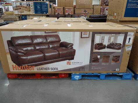 costco leather sofa in store simon li hunter leather sofa