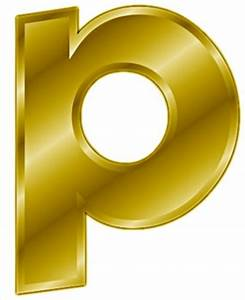 free gold letter p clipart free clipart graphics With letter p gold