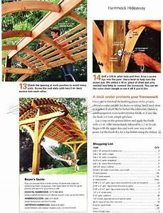 Overhead Shading Hammock Stand Plans • WoodArchivist