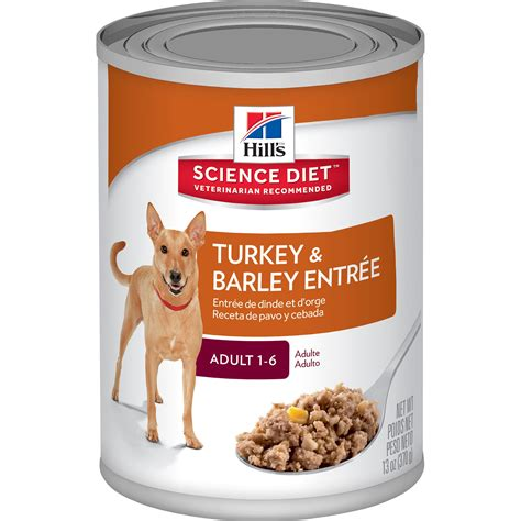 hills science diet adult turkey barley entree canned