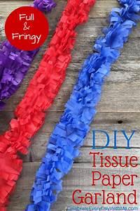Diy, Tissue, Paper, Garland