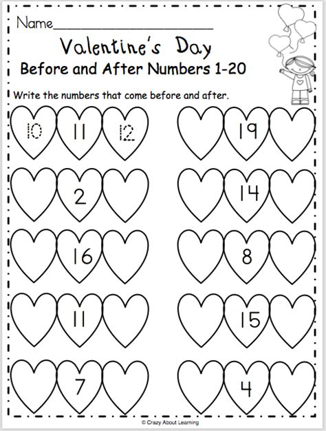Free Valentine's Day Math Worksheet Madebyteachers