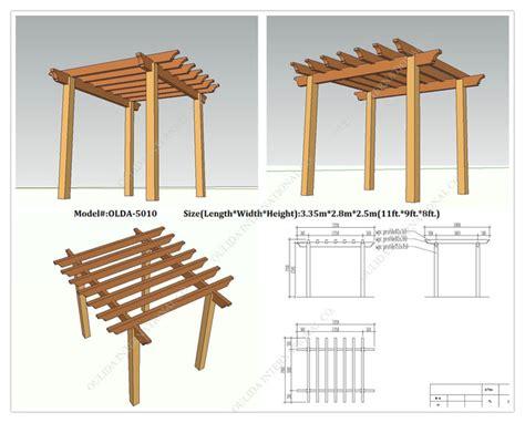free standing pergola plans designs garden