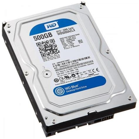 hdd interno hd interno sata 3 5 500gb sata iii 7200 rpm blue western